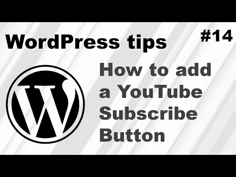 How to add a YouTube subscribe button WordPress