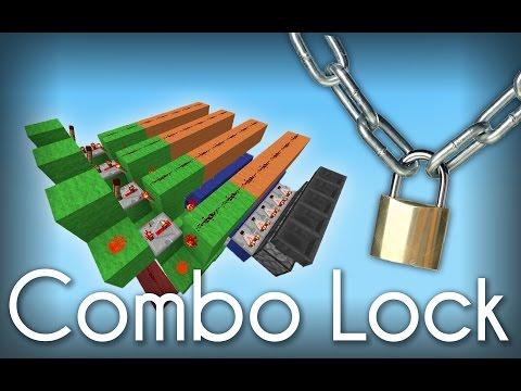 Minecraft Quick & Easy Combo Lock! [Tutorial]