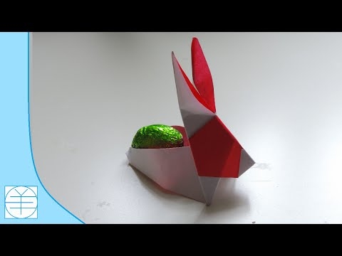 Easter Origami Bunny Container / Basket . ( Easy Instructions) (Full HD)
