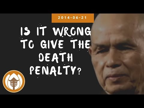 Is it wrong to give the death penalty?