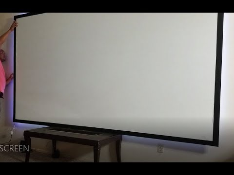 BUILDING MY 140 INCH HOME PROJECTOR SCREEN CHEAP