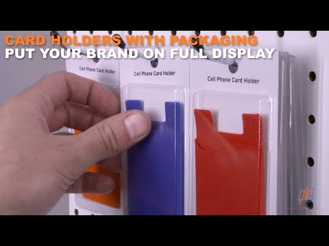 Card Holders with Packaging Put Your Brand on Full Display