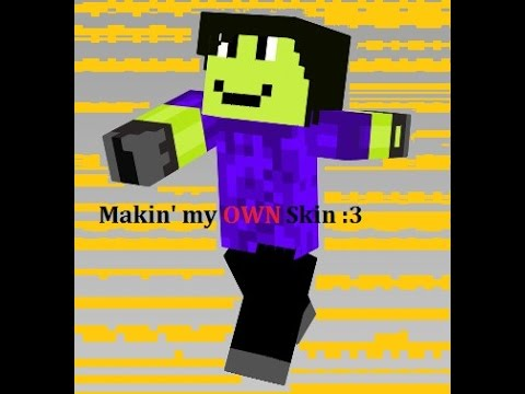 Minecraft 1.7.10 - How to make your own skin!