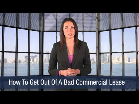 How To Get Out of A Bad Commercial Lease