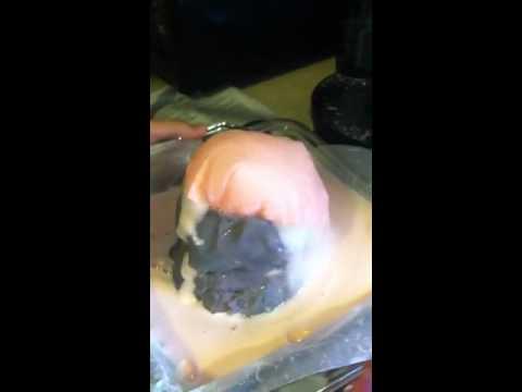 Erupting homemade mini volcano!