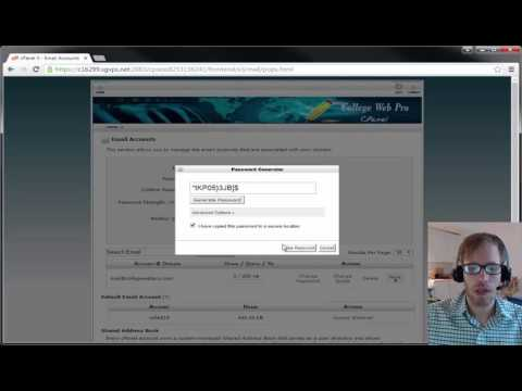 How to Set Up a Professional Domain E-mail Through College Web Pro ( + Forwarder)