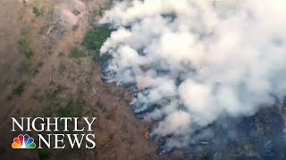 Download Worldwide Pleas To Save The Amazon As Fires Decimate Rainforest | NBC Nightly News Video