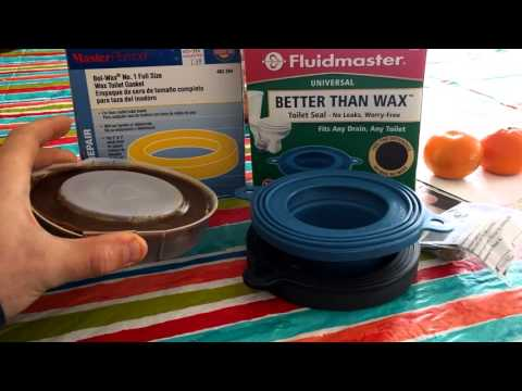 Fluidmaster rubber toilet seal VS Traditional Wax seal