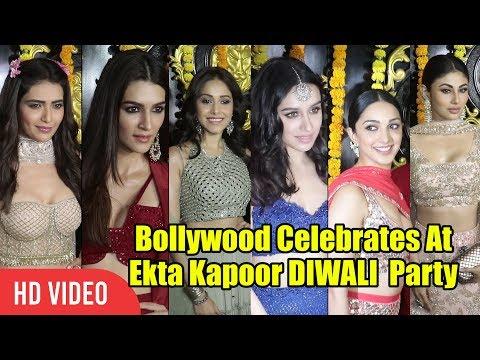 Xxx Mp4 Shraddha Kapoor Kriti Sanon And Kiara Advani At Ekta Kapoor DIWALI Party 2018 Viralbollywood 3gp Sex