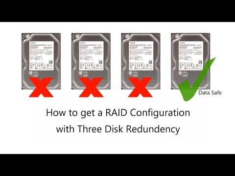How to Get a Three Disk Redundant RAID - THREE disk fault tolerance