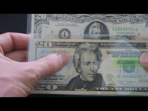 Low Print Star Note, and Twenty Dollar Bill Cool Serial Number Birthday Year Note