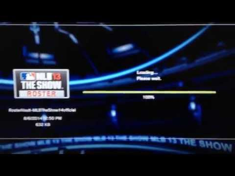 How to upload 2014 roster to your MLB 13 The Show game