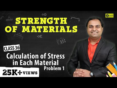 Calculation of Stress in Each Material - Problem 1 - Stress and Strain - Strength of Materials