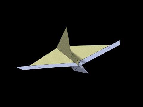 Jaguar Paper Airplane: 3D Folding