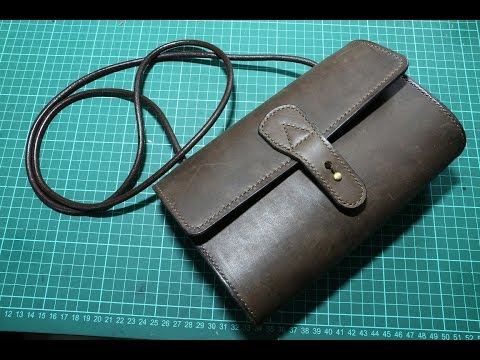 Making a simple leather lady sling bag