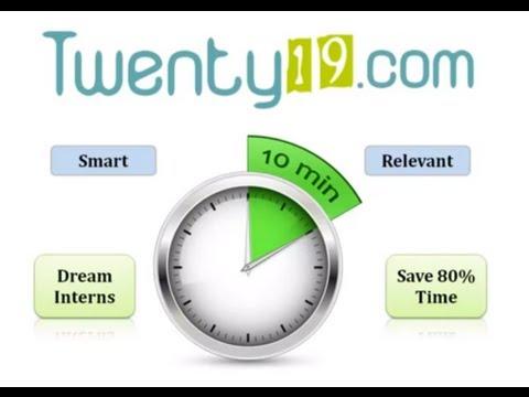 Hire Dream Interns in 10 mins. - Twenty19.com
