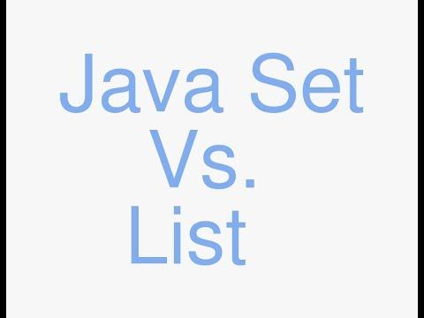Java Set vs List