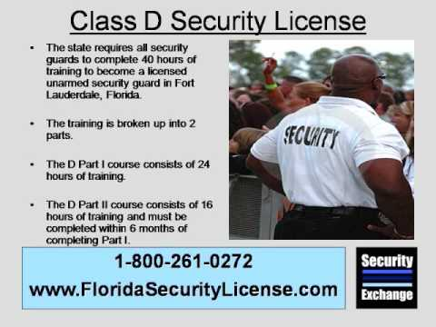Florida Class D Security License Fort Lauderdale