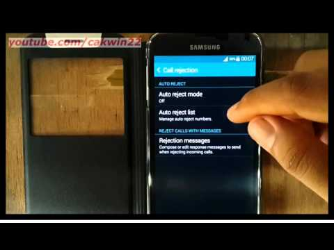 Samsung Galaxy S5 : How to add or delete number in auto reject list (Android Phone)