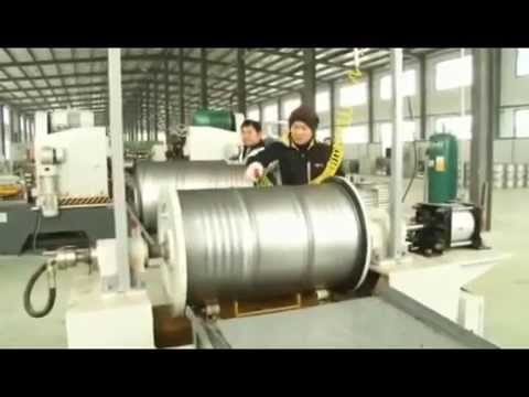 Steel barrel making machine