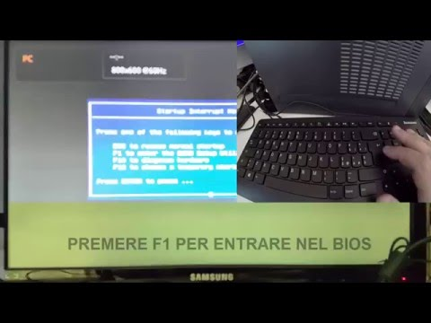 LENOVO ENTRARE NEL BIOS HOW TO ENTER THE LENOVO BIOS