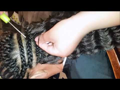 Crochet braids using Kima Ripple Deep w/ bang detail video