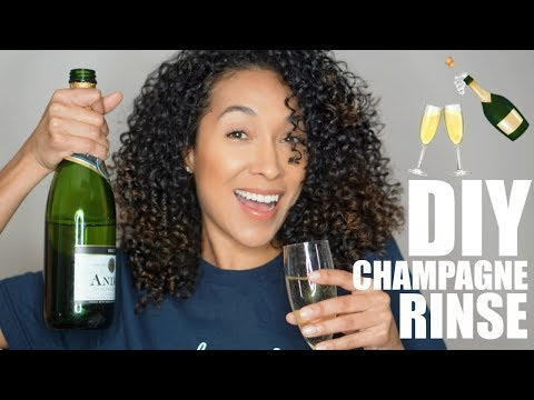 CHAMPAGNE RINSE FOR YOUR HAIR | RisasRizos