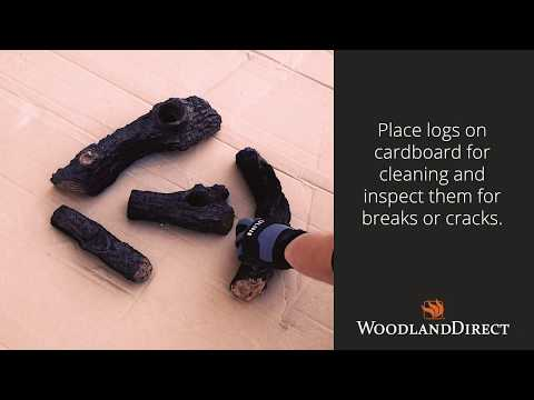 How to clean and maintain your gas log set