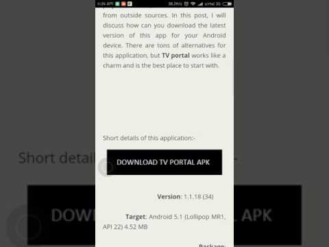 Tv portal APK for Andoid and PC