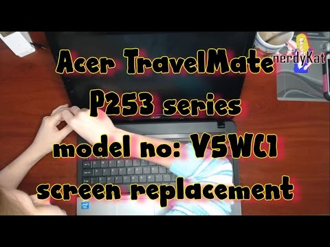 Acer TravelMate P253 screen replacement
