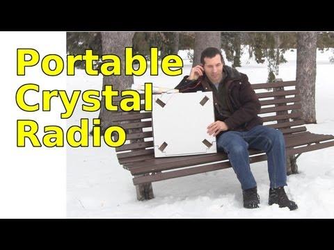 Portable Crystal Radio using Loop Antenna and Pizza Box