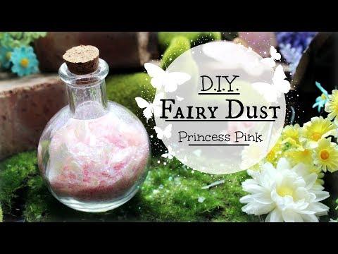How to make Magical Fairy Dust: DIY Pink Fairydust Potion Tutorial #fairies