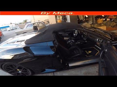 How to Repair Ferrari Convertible top | Replace elastic tension in a Ferrari convertible top. DIY