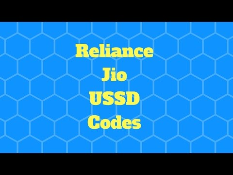 Reliance Jio USSD Codes - Balance Check 4G Data SMS USSD Codes