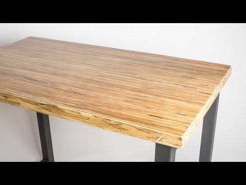 CRAZY END GRAIN Laminate Desk!