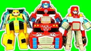 Transformers Optimus Prime Rescue Bots Vs Dinosaur Train Attack
