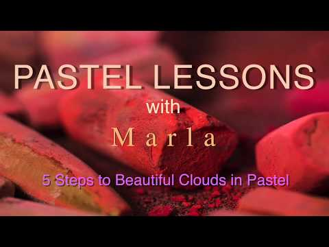 Pastel Painting - How to Paint Beautiful Clouds in Pastel