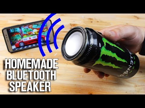 Homemade Bluetooth Speaker made from Monster Can!