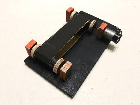 How To Make a Mini Belt Sander Using 12v  DC Motor