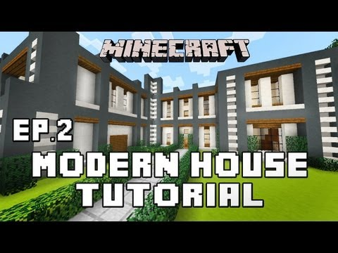Minecraft Tutorial:  How To Build A Modern House  Ep.2  (Second Story And Roof)