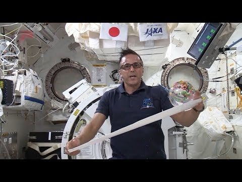 Astronaut Demonstrates Kinetic and Potential Energy