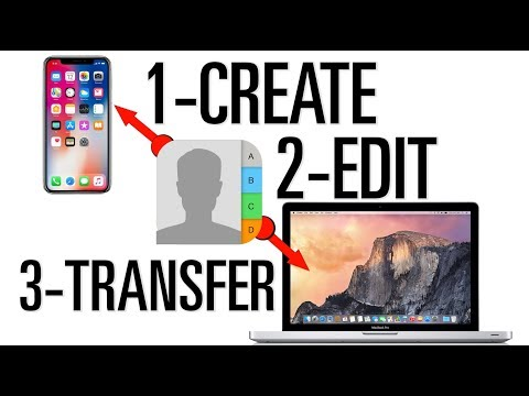 Create Edit Transfer and Sync contacts on iphone, Mac using icloud or Gmail