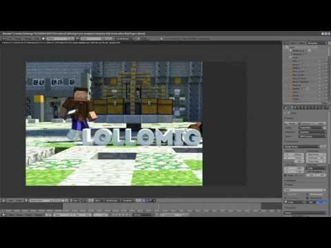 free MINECRAFT INTRO TEMPLATE + TUTORIAL blender only