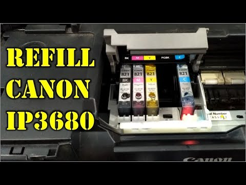 cara mudah refill printer canon ip3680