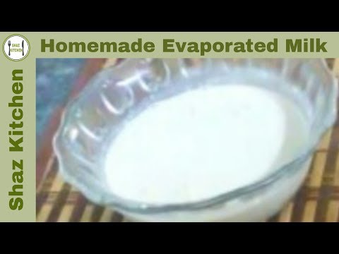 Homemade Evaporated Milk/Dehydrated Milk Recipe(In Urdu/Hindi)How to make Evaporated Milk at home