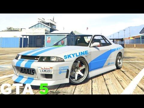 GTA 5 How to make nissan skyline Fast and Furious Skyline GTR