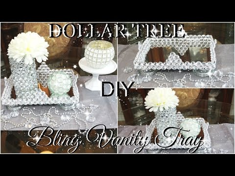 DOLLAR TREE DIY BLINGED OUT VANITY TRAY COLLABORATION WITH SO FASHION PLUS | PETALISBLESS🌹