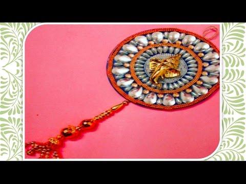DIY:: Recycling old CD to beautiful ganesha Car/wall hanging !!