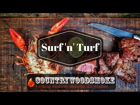 BBQ Surf and Turf - Crayfish and Fillet Steak (shows crayfish being killed)