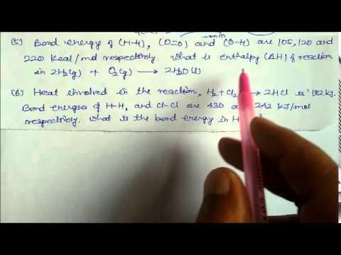 Bond Dissociation Energy 1 Solved Numericals